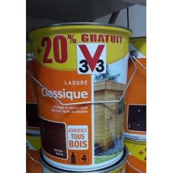 Lasure Classique Acajou 5 L + 20% - 3V3