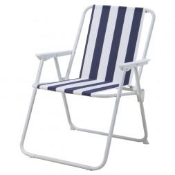Chaise fixe pliante fer textilène