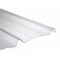 Tôle nervurée polycarbonate claire long 2m00 - largeur 1m05