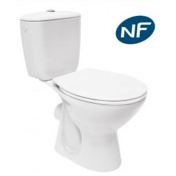 Pack WC blanc PRESIDENT sortie horizontale - NF
