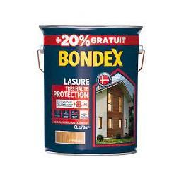 Lasure bois chêne claire 5L + 20% - BONDEX