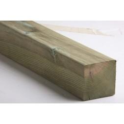 Pièce  pin traitée classe IV rabotée - 9,5 x 9,5cm long 4m