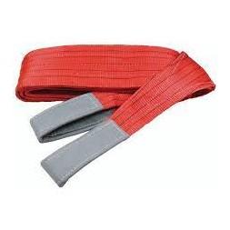 Elingue sangle plate de levage Rouge à boucles  150MM L 4M 5000 KG